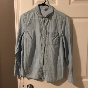 Long sleeve denim button down